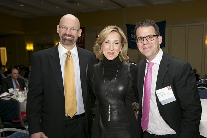 CFO Summit Co-Chairs Jack McCullough, MBA '97 and Jeremy Seidman, MBA '03 with Carol Massar, Anchor, Bloomberg Television & Radio